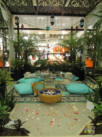 "AngEffects, Inc. won 1st place for a professional's garden design. Their theme was ""Persian Paradise."""