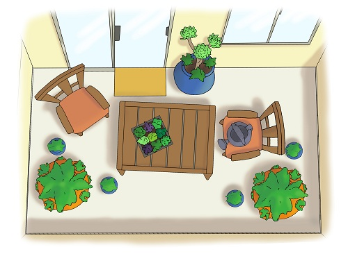 Southwest balcony garden design