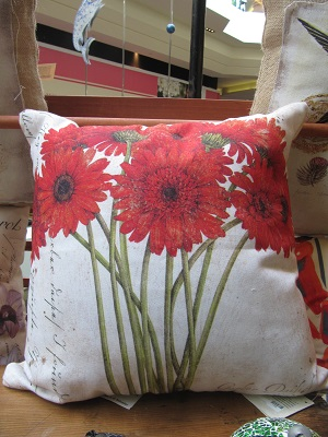 Flower Pillow Garden Decor