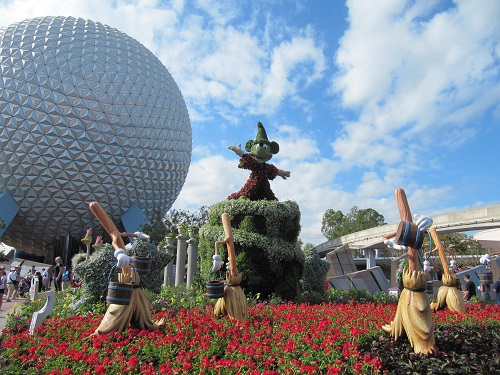 Fantasia Mickey Topiary Epcot International Flower and Garden Festival