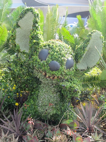 Stitch Topiary Epcot International Flower and Garden Festival