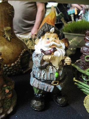 Garden Gnome with Bird