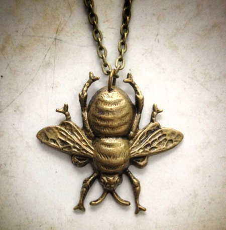 Bee Necklace LilyPickford Etsy
