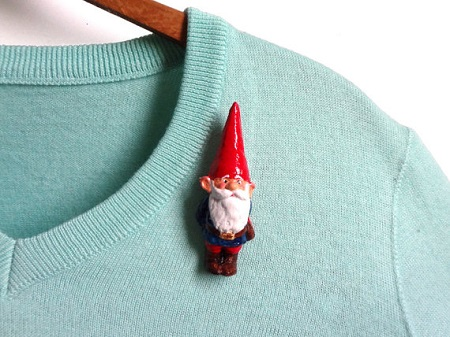 Garden Gnome Brooch LaLaForest