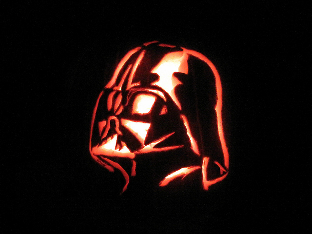 Jack O'Lantern Carved Pumpkin Darth Vader